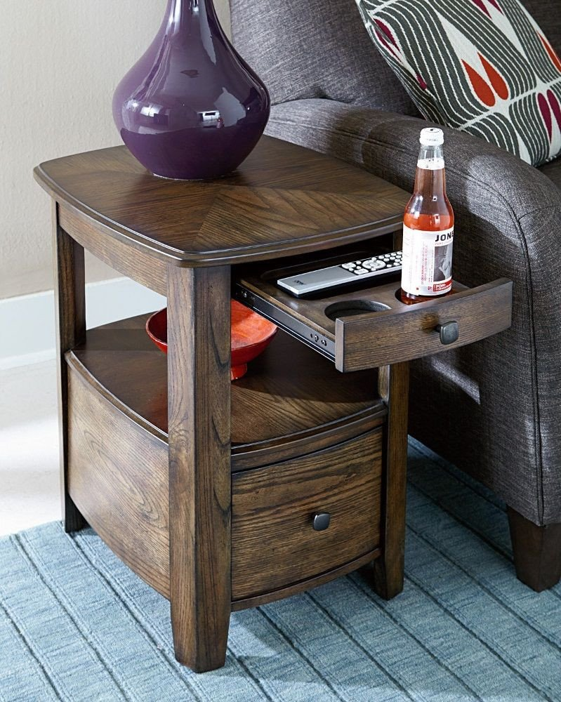 Small Bedroom End Tables New How Cool is This Side Table with Built In Cup Holders We Re