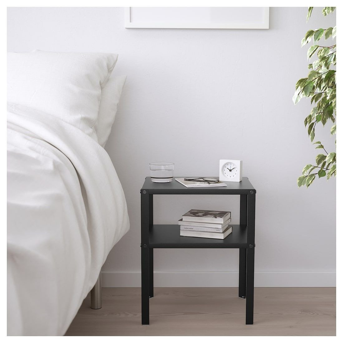 Small Bedroom Side Tables Awesome Ikea Knarrevik Black Nightstand In 2019