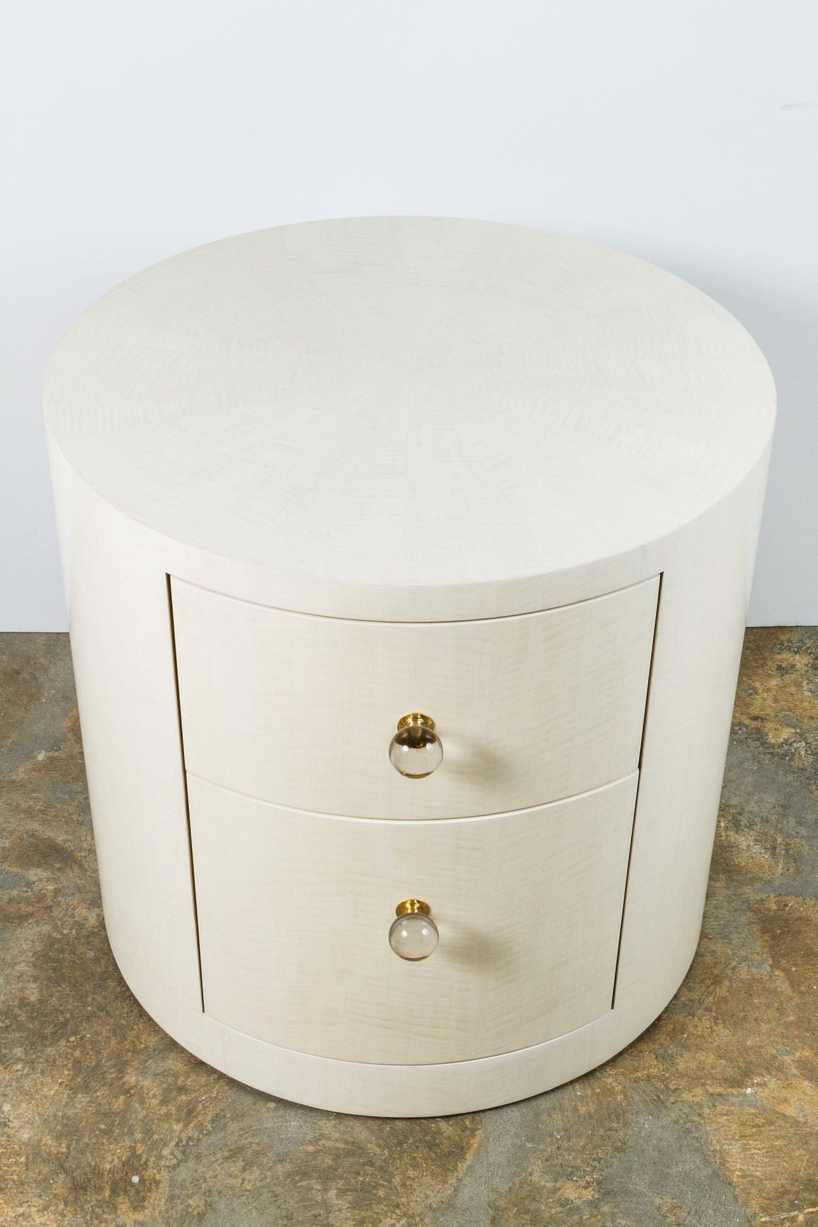 Small Bedroom Side Tables New Italian Inspired 1970s Style Round Nightstand