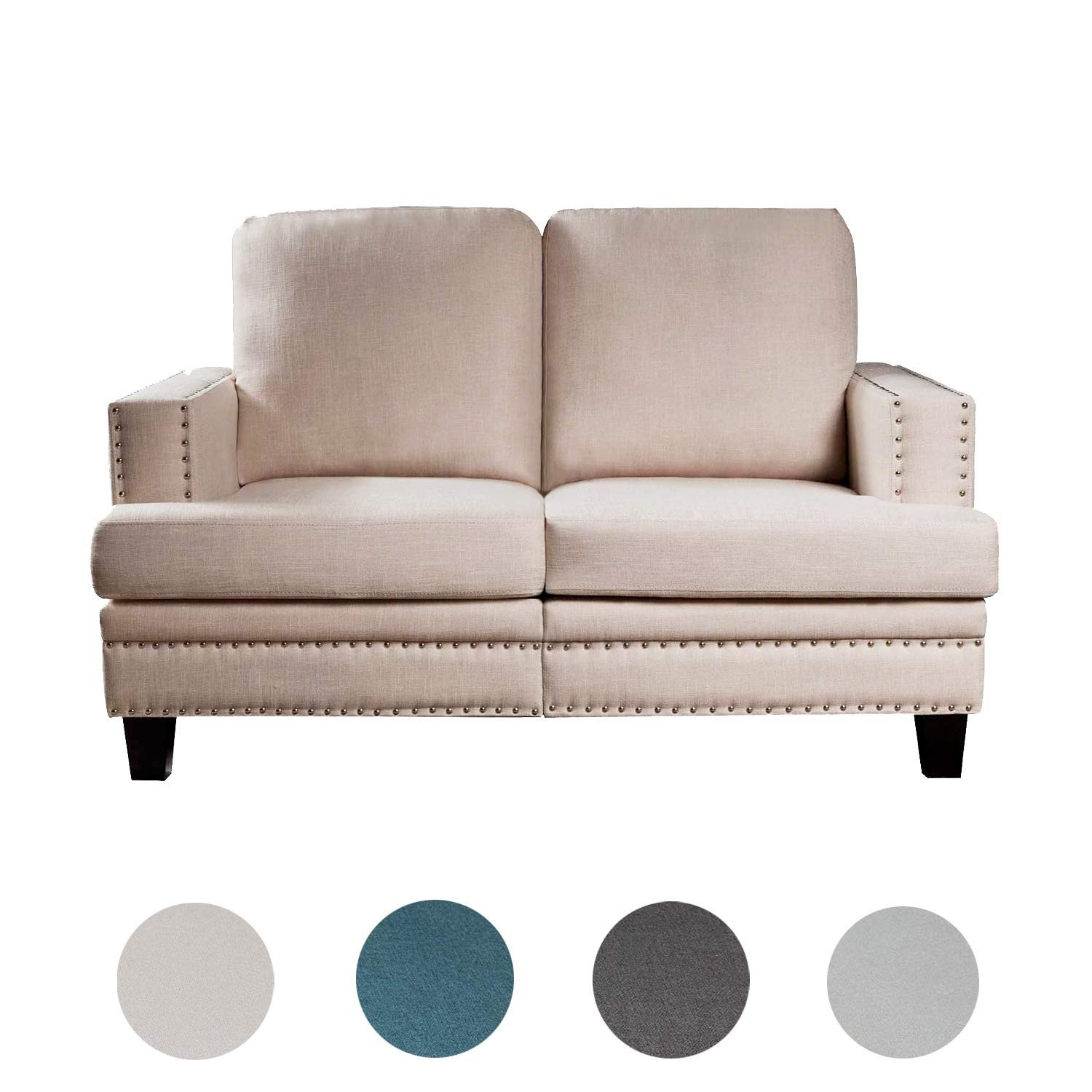 Small Comfy Chair for Bedroom Elegant Amazon top Space Loveseat sofa Modern Upholstered Couch