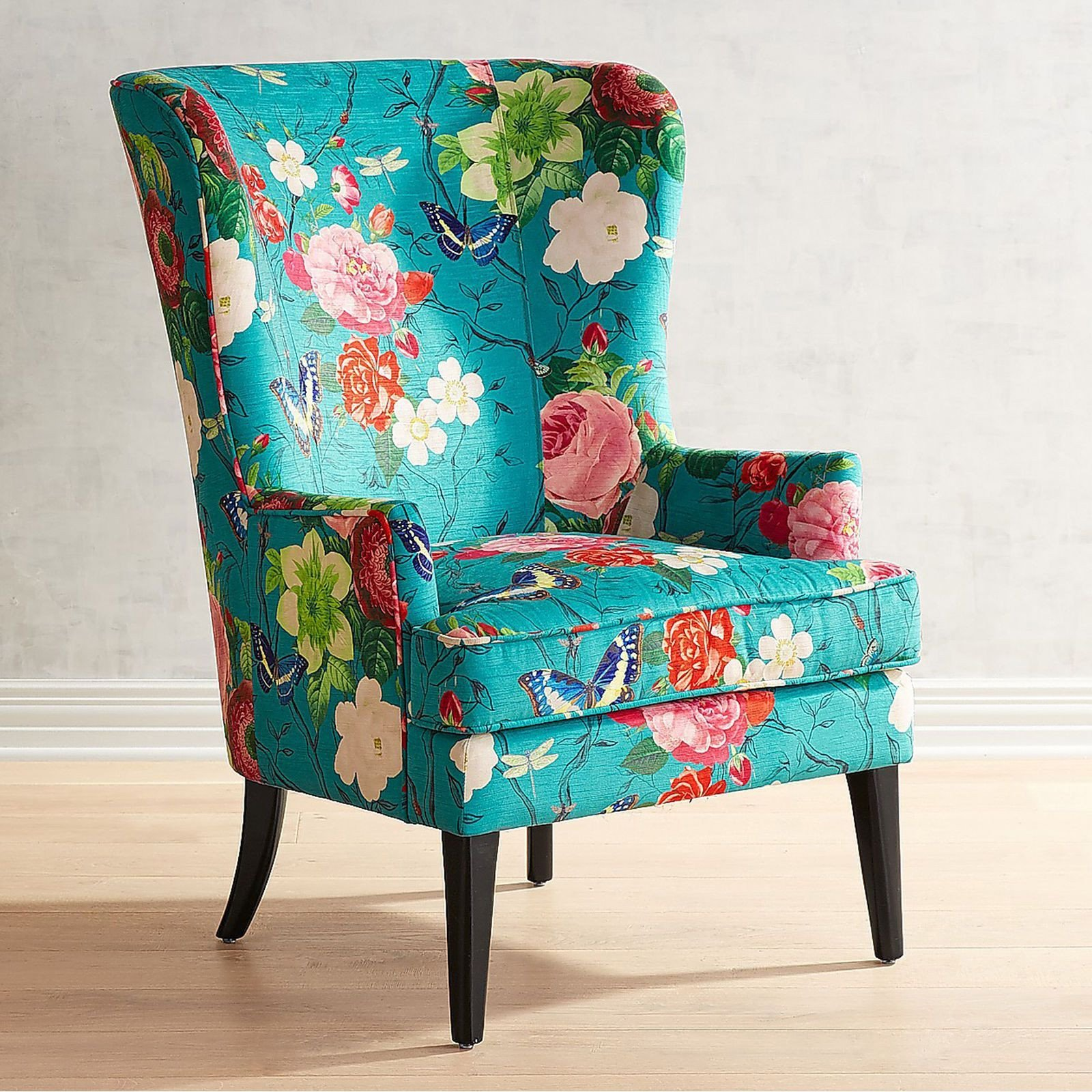 Small Comfy Chair for Bedroom Luxury asher Flynn Floral Print Chair