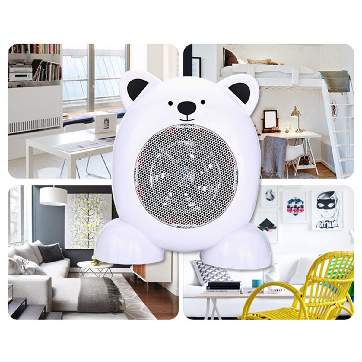Small Heaters for Bedroom Beautiful 220v 360w Cartoon Bear Style Heater Fan Portable Mini Silencer Electric Heater Fan