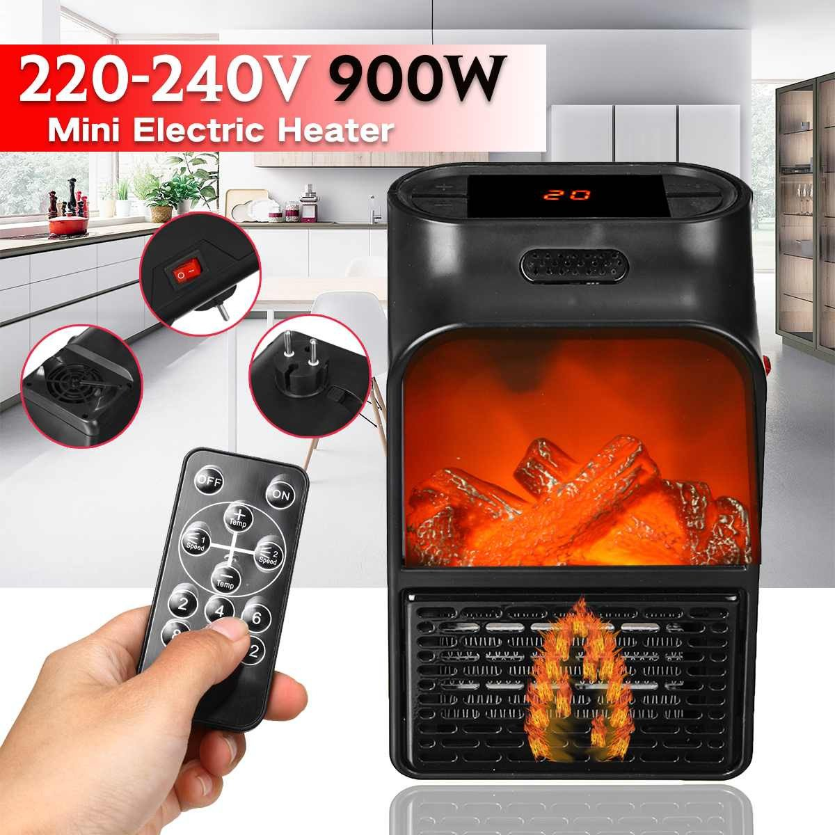 Small Heaters for Bedroom Luxury 900w Mini Electric Heater Portable Electric Space Room Heater Air Heating Space Winter Warmer Machine with Remote Control