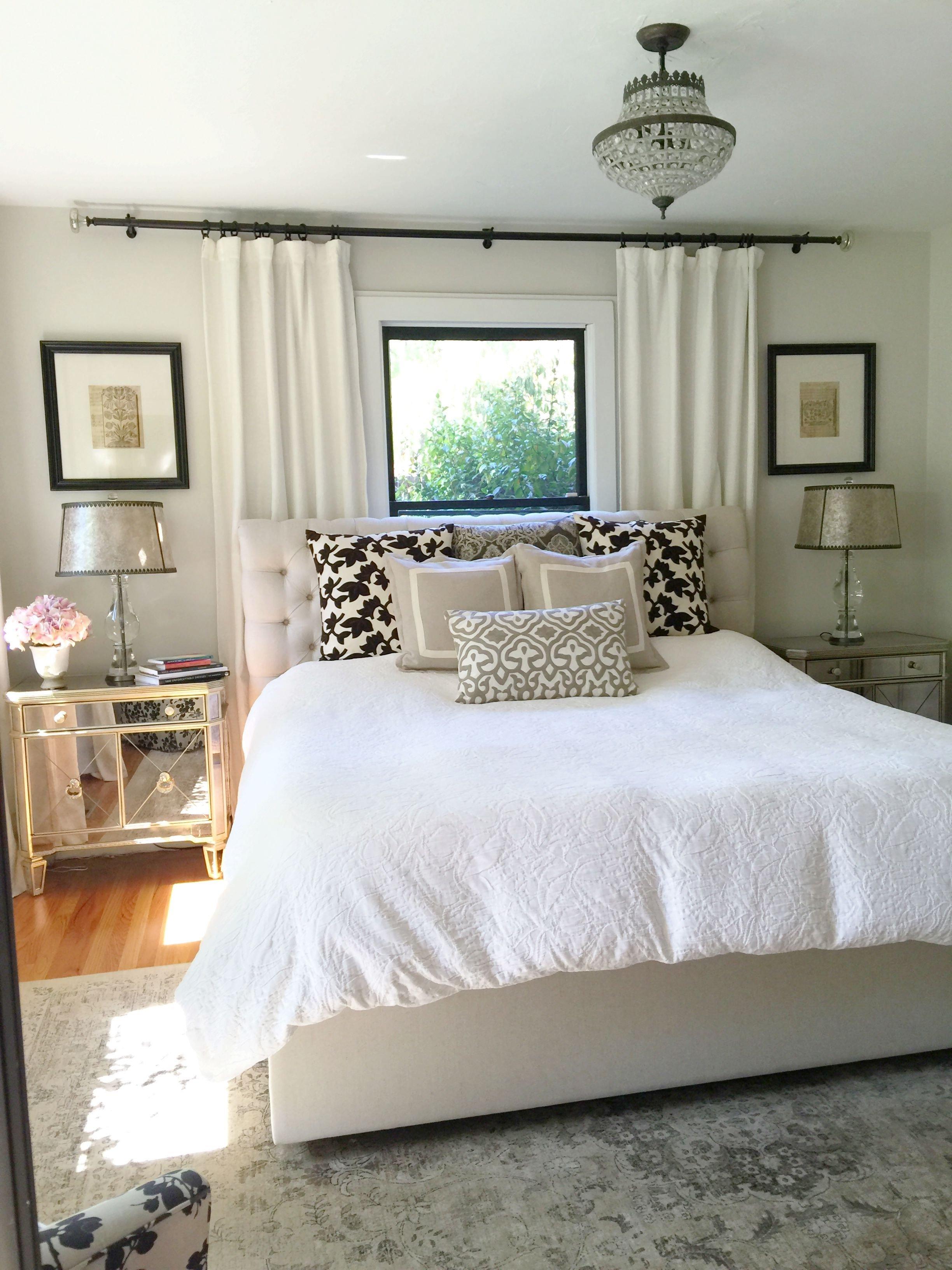 Small Master Bedroom Design Ideas Unique Neutral Bedroom Window Behind Bed Bedroom Window