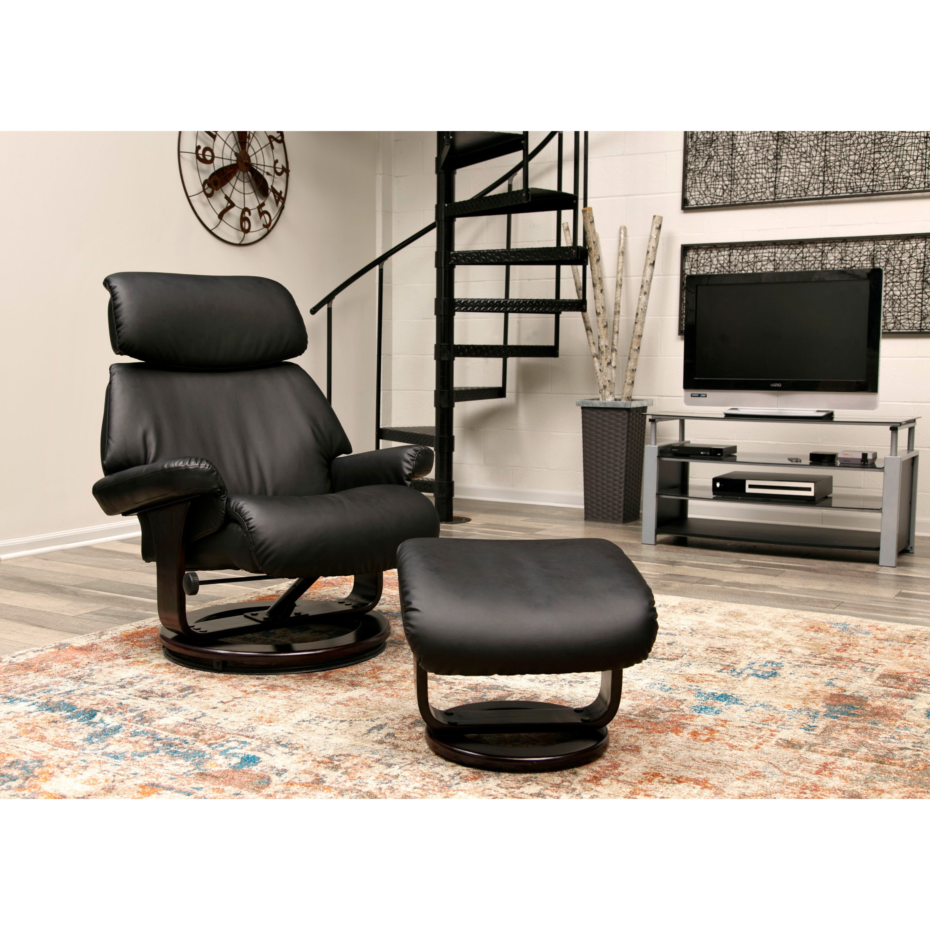 Small Recliners for Bedroom Fresh Relaxzen Classic Bonded Leather Recliner with Ottoman