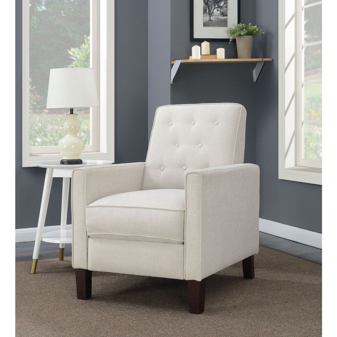 Small Recliners for Bedroom Lovely Gregory Manual Recliner Cream