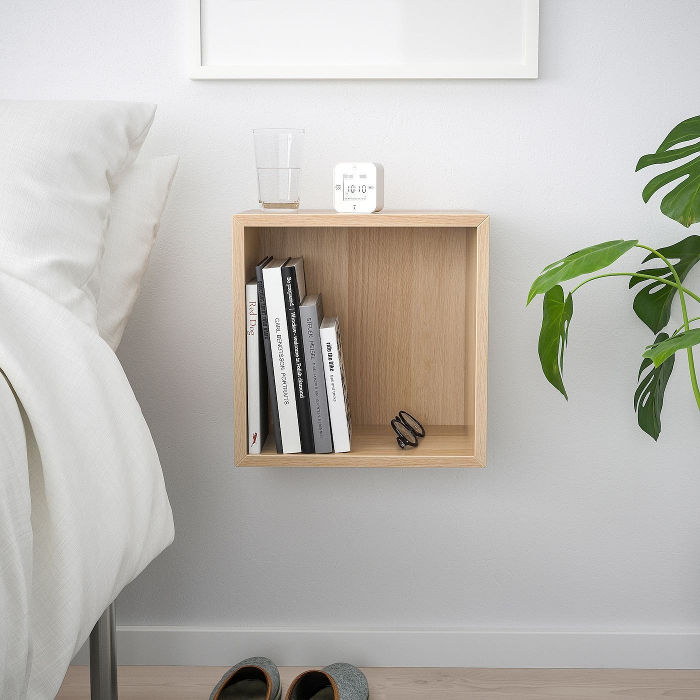 Small Shelves for Bedroom Inspirational Ikea Eket White Stained Oak Effect Wall Mounted Shelving