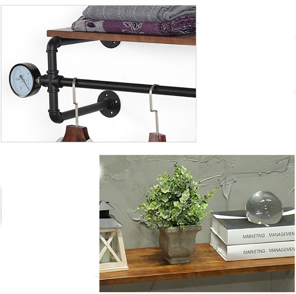 Small Shelves for Bedroom Unique Amazon Gj Bgymj Loft Retro Wrought Iron Wall Clothing