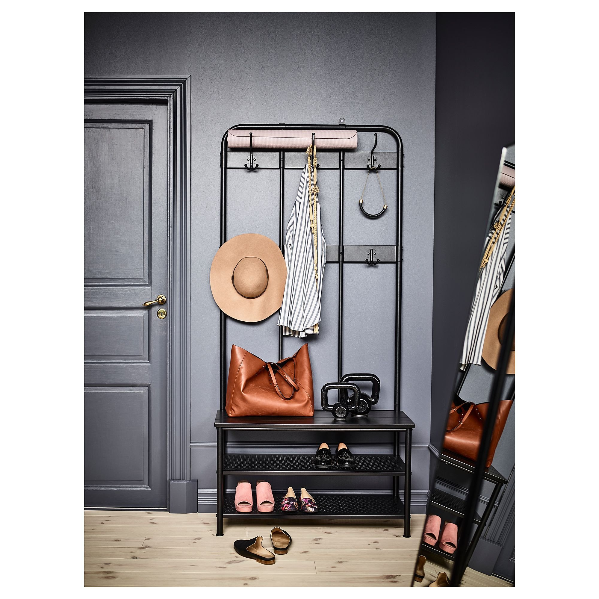 Small Storage Bench for Bedroom New Ikea Pinnig Black Coat Rack with Shoe Storage Bench