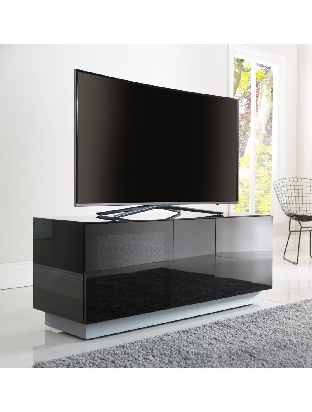 Small Tv Stand for Bedroom Lovely Alphason Element Modular 1250xl Glass top Tv Stand Emt1250xl