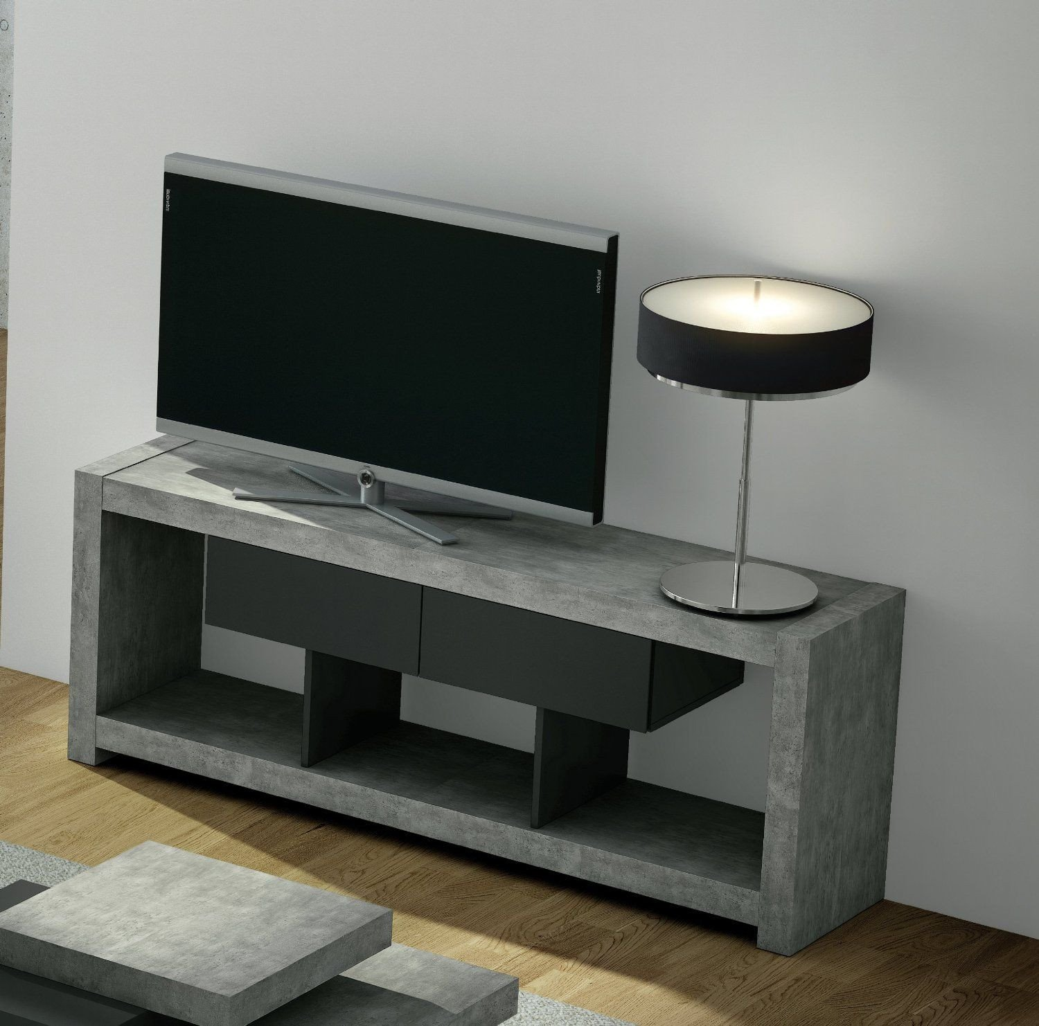 Small Tv Stand for Bedroom New Temahome Concrete Tv Stand