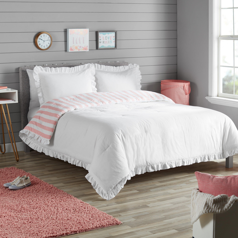Sofia Vergara Bedroom Set Elegant Better Homes & Gardens White Reversible Ruffle Border