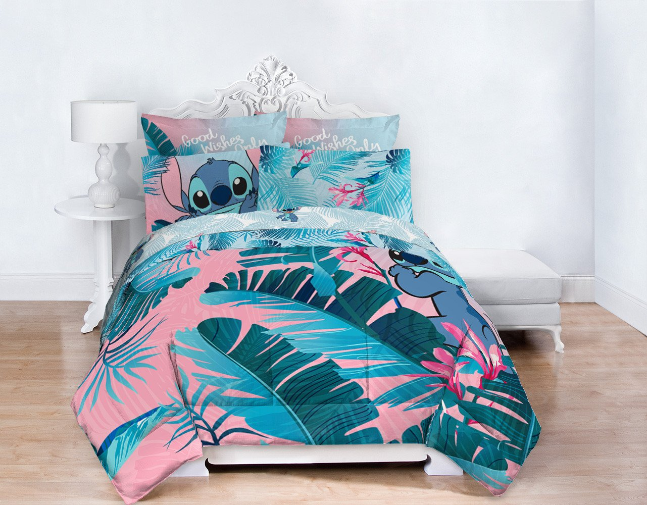 Sofia Vergara Bedroom Set Elegant Lilo & Stitch Floral Fun Queen Bed Set Walmart