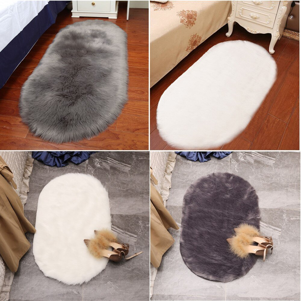 Soft Rugs for Bedroom Awesome Us $4 44 Off soft Artificial Sheepskin Rug Chair Cover Bedroom Mat Artificial Wool Warm Hairy Carpet Seat Wool Warm Textil Fur area Rugs In Rug