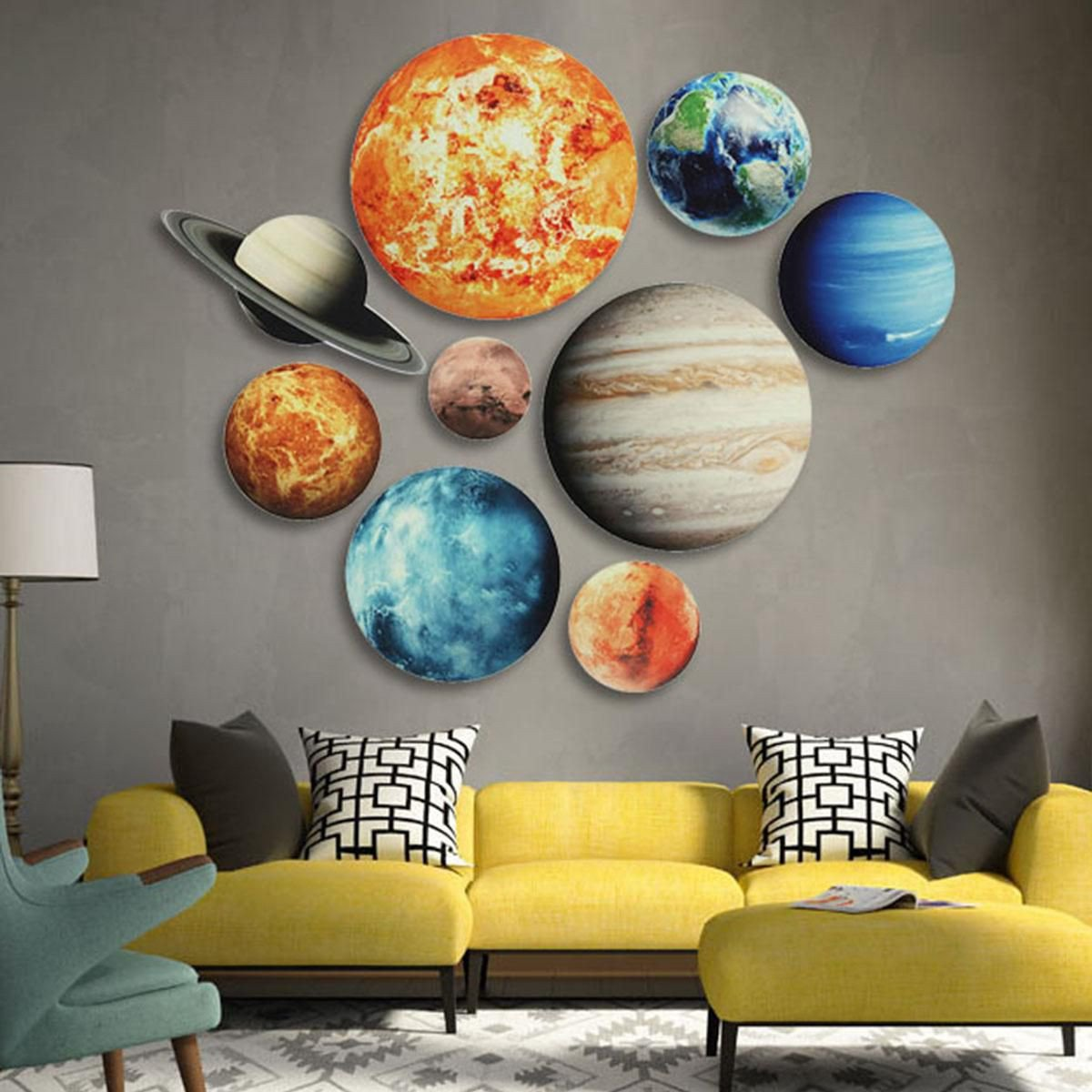 Solar System Bedroom Decor Best Of Glow In the Dark solar System Wall Stickers 9 Planets Mars