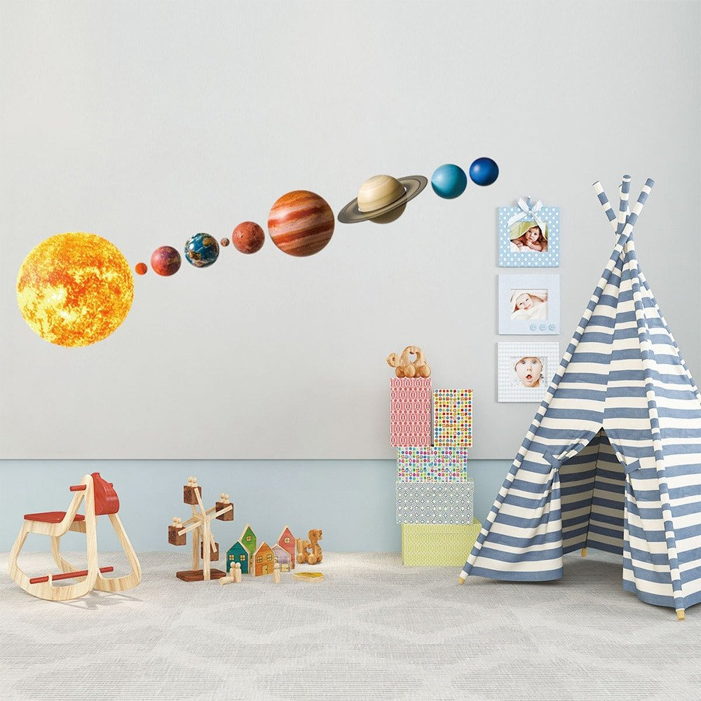 Solar System Bedroom Decor Best Of Us $2 84 Off Lovely solar System Wall Stickers for Kids Rooms Home Decor Outer Space Planets Earth Sun Saturn Mars Wall Decals Diy Mural Art On