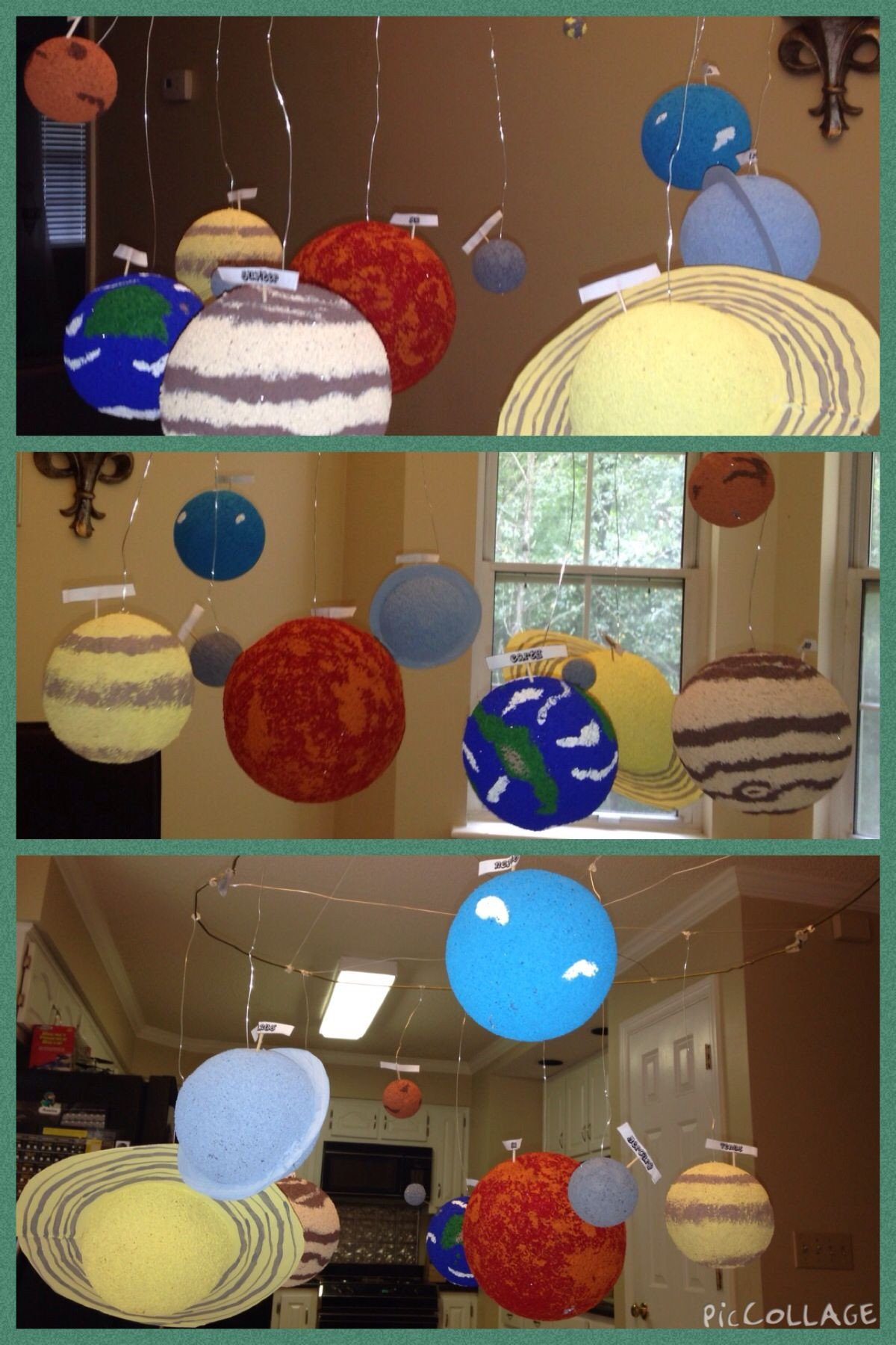 Solar System Bedroom Decor Elegant solar System Project We Used Two Wire Coat Hangers to Make