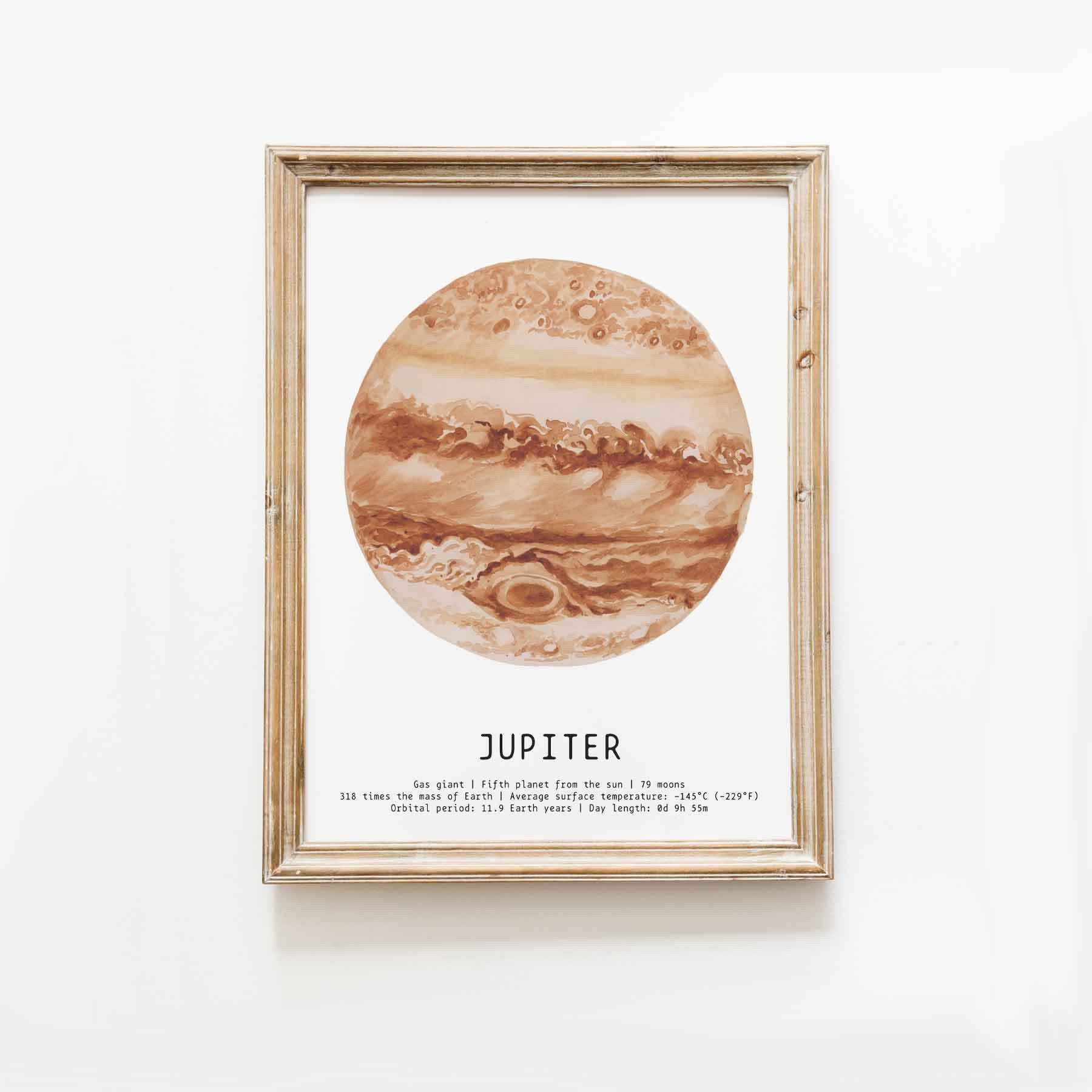 Solar System Bedroom Decor Fresh Planet Jupiter Watercolor Art Print solar System Prints Educational Wall Art Nursery Space Decor Space Home Decor