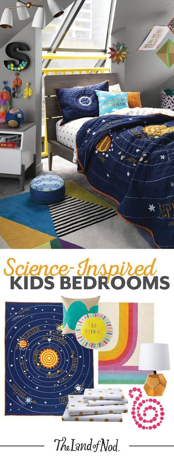 Solar System Bedroom Decor Inspirational We Re Over the Moon for Science Inspired Kids Bedrooms