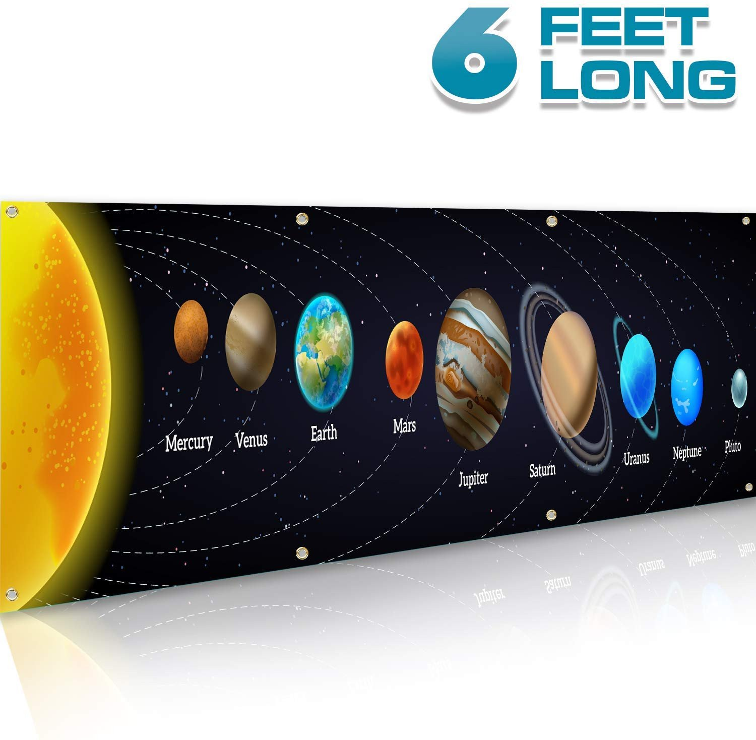 Solar System Bedroom Decor Luxury Bigtime Signs solar System Poster Science Banner 16 Inches X 6 Feet Classroom Decorations Vinyl Sign Educational Reference Space Vibrant Colors