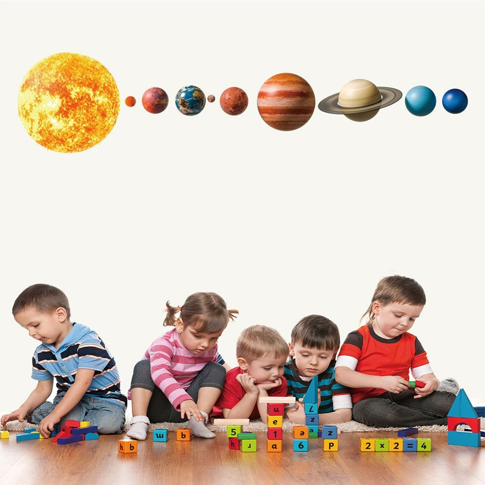 Solar System Bedroom Decor Luxury Us $2 84 Off Lovely solar System Wall Stickers for Kids Rooms Home Decor Outer Space Planets Earth Sun Saturn Mars Wall Decals Diy Mural Art On