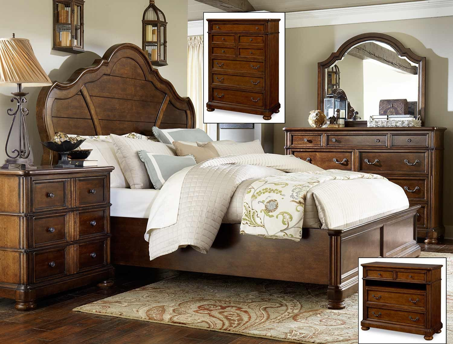 Solid Cherry Wood Bedroom Furniture Awesome Legacy Classic Summerfield Panel Bedroom Set