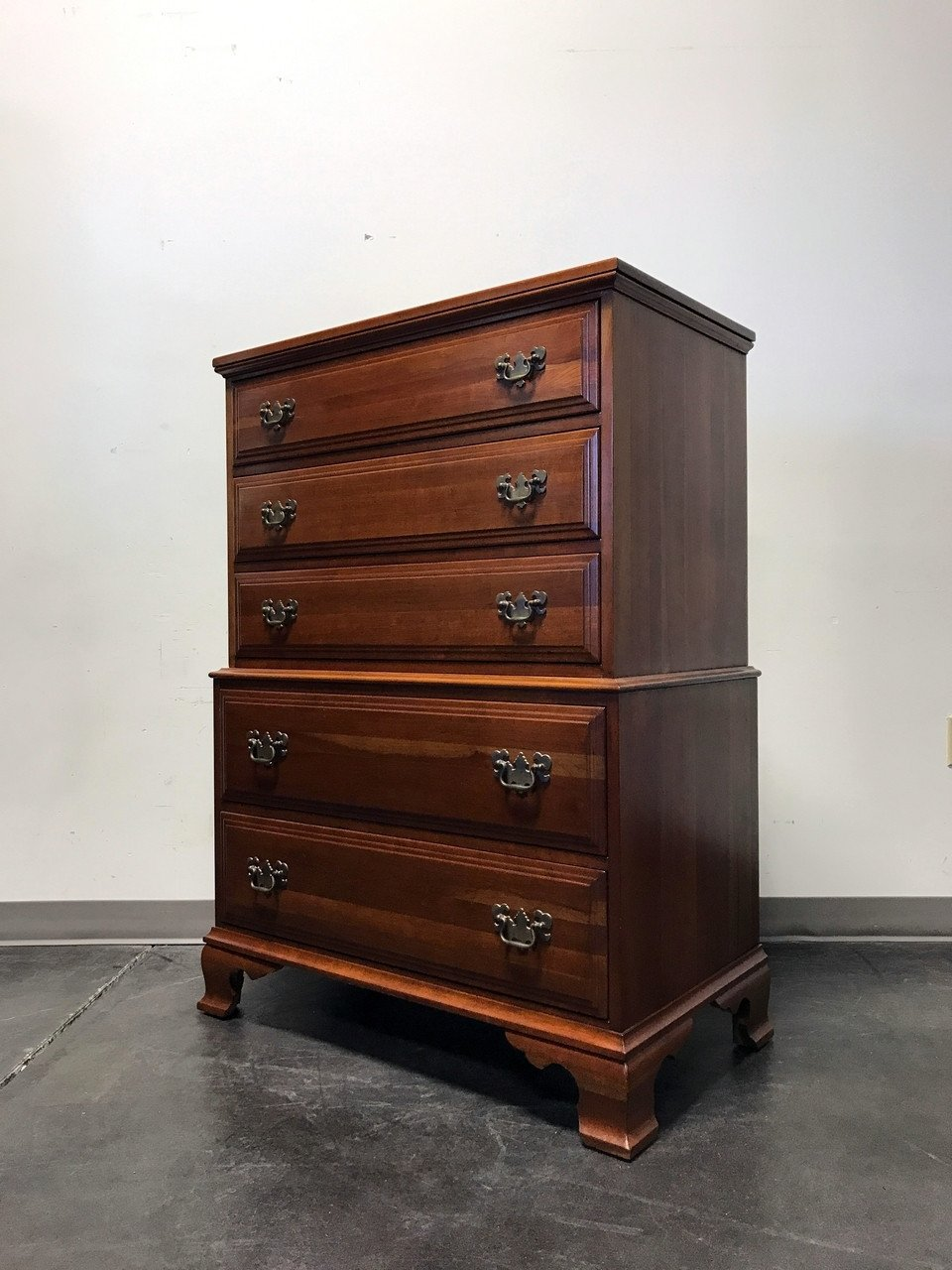 Solid Cherry Wood Bedroom Furniture Inspirational sold Out Davis Cabinet Pany solid Cherry Chippendale Chest On Chest