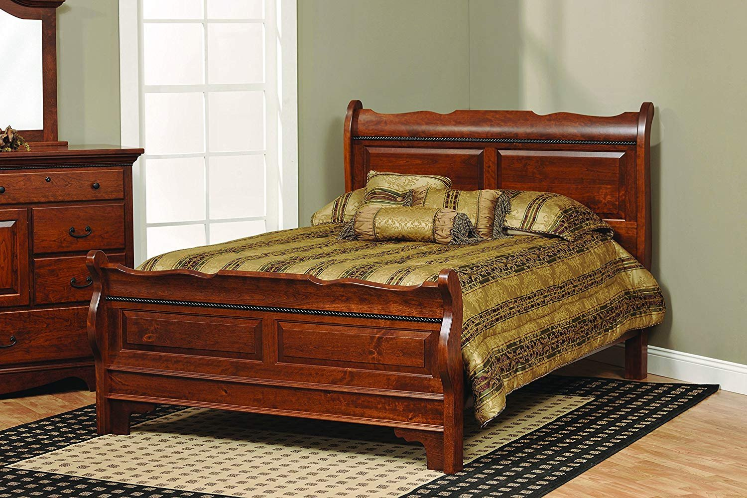 Solid Cherry Wood Bedroom Furniture New Amazon Amish Merlot King solid Rustic Cherry Wood