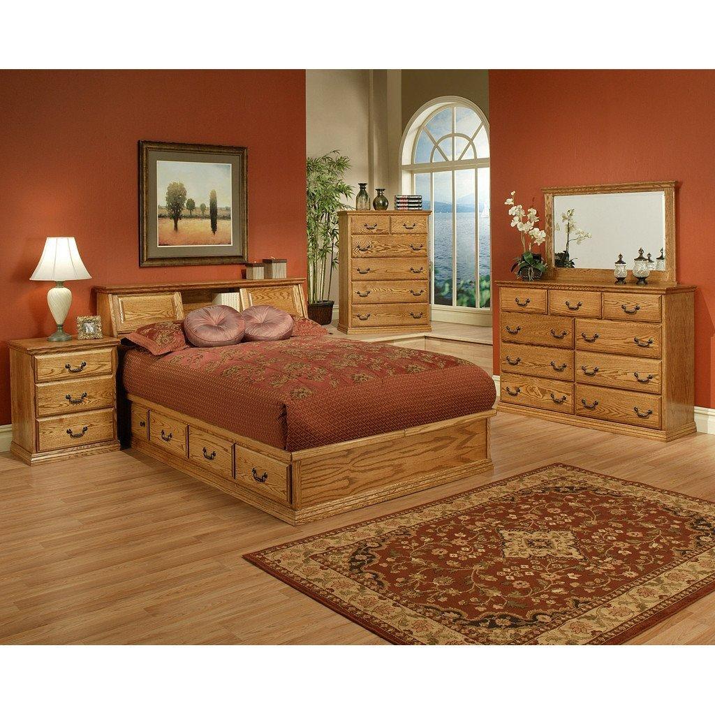 Solid Oak Bedroom Furniture Beautiful Traditional Oak Platform Bedroom Suite Queen Size