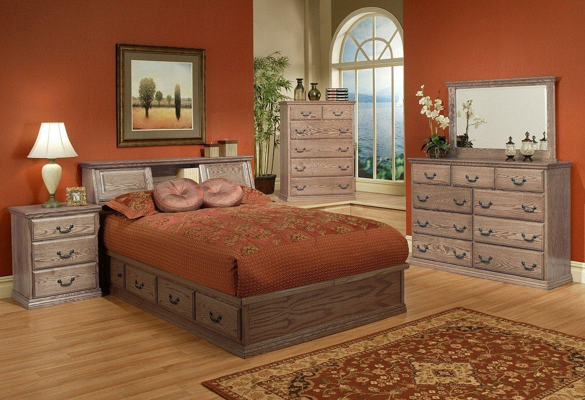 Solid Oak Bedroom Furniture New Traditional Oak Platform Bedroom Suite Queen Size