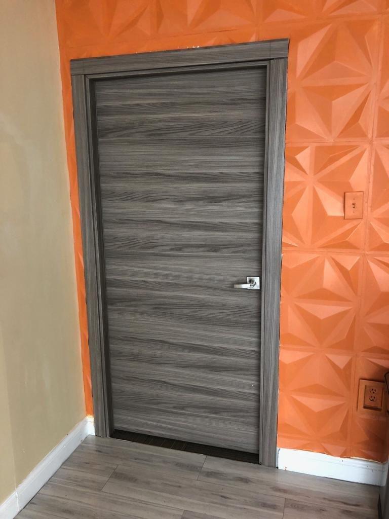 Solid Wood Bedroom Doors New Planum 0010 Interior Modern Flush solid Wood Door Ginger ash with Frames Trims Hardware