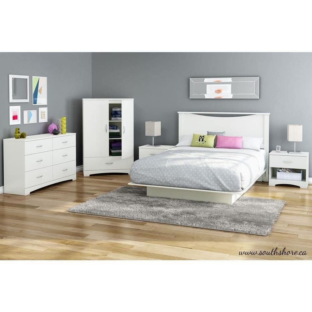 South Shore Bedroom Set Beautiful south Shore Step E Queen Size Platform Bed In Pure White
