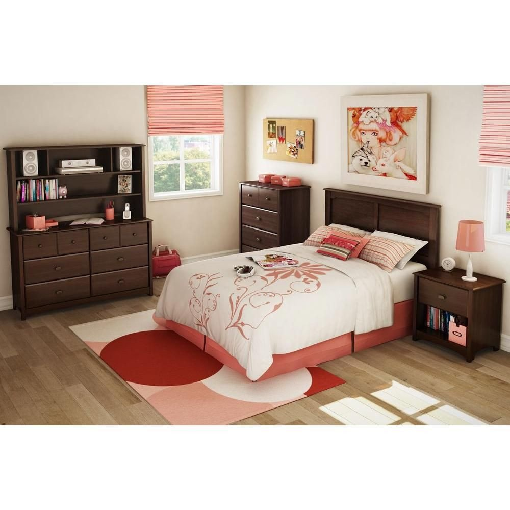 South Shore Bedroom Set Inspirational south Shore Willow Sumptuous Cherry Full Headboard