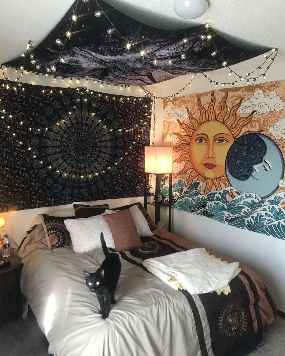 Space Saving Bedroom Ideas Inspirational Sun & Moon Tapestry In 2020