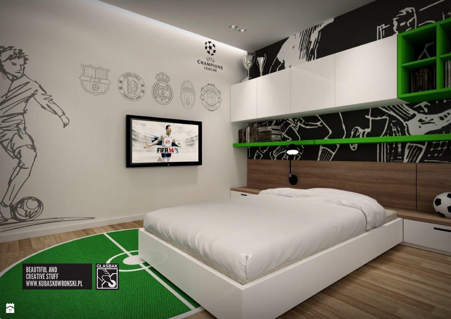 Sports Bedroom Decorating Ideas Fresh Pok³j Dziecka Zdjęcie Od Kubaskowronski Pok³j Dziecka