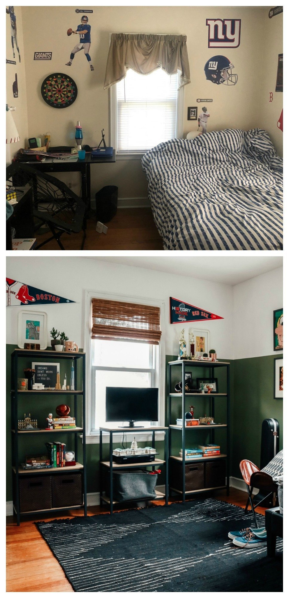 Sports Bedroom Decorating Ideas Unique Teenager Boys Room Makeover Grown Up Style Nesting with Grace