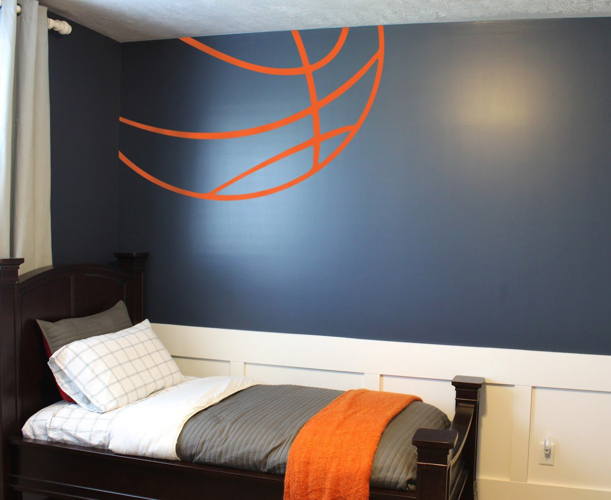 Sports themed Bedroom Decor Beautiful Basketball themed Bedroom Large and Beautiful Photos
