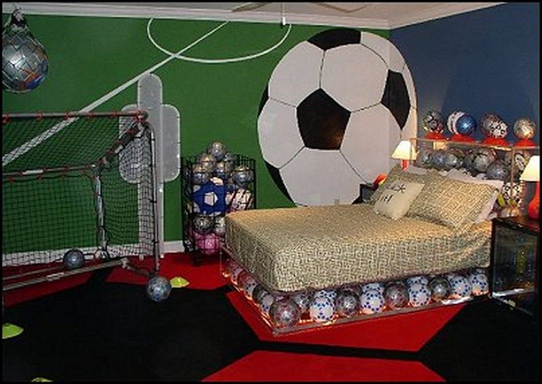 Sports themed Bedroom Decor Inspirational 49 Stylish soccer themed Bedroom Design for Boys