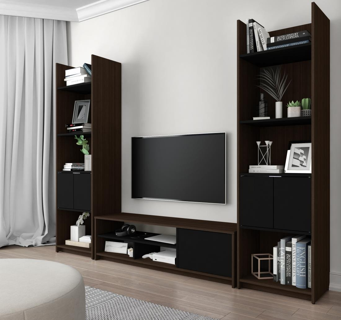Table for Tv In Bedroom Lovely Small Space 3 Piece Set Including Shelving Units and A Tv