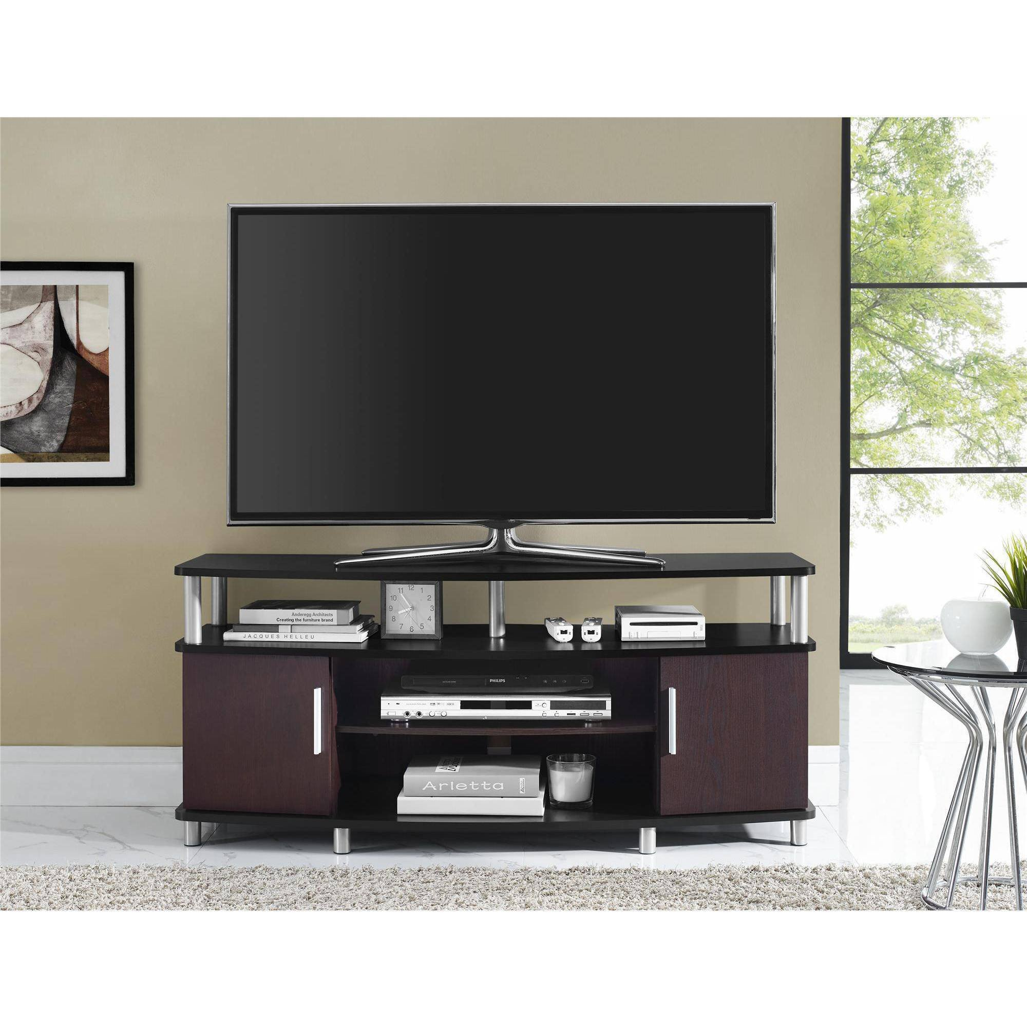 "Tall Tv Stand for Bedroom Best Of Carson Tv Stand for Tvs Up to 50"" Multiple Finishes"
