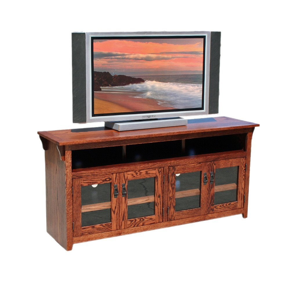 "Tall Tv Stand for Bedroom Inspirational Od O M280 Mission Oak 65"" Tv Stand"