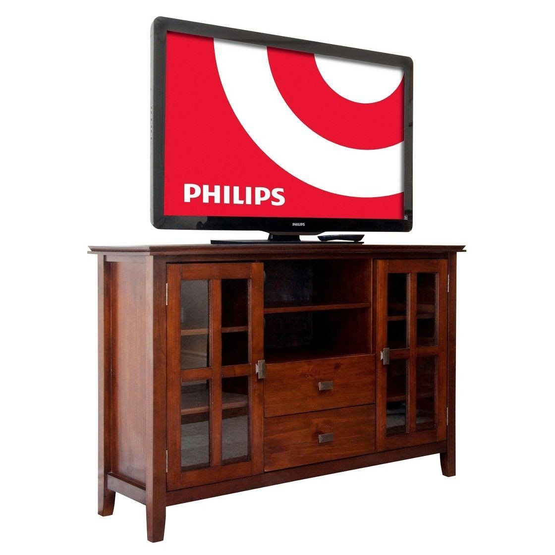 Tall Tv Stands for Bedroom Beautiful Stratford solid Wood Tall Tv Media Stand Medium Auburn Brown
