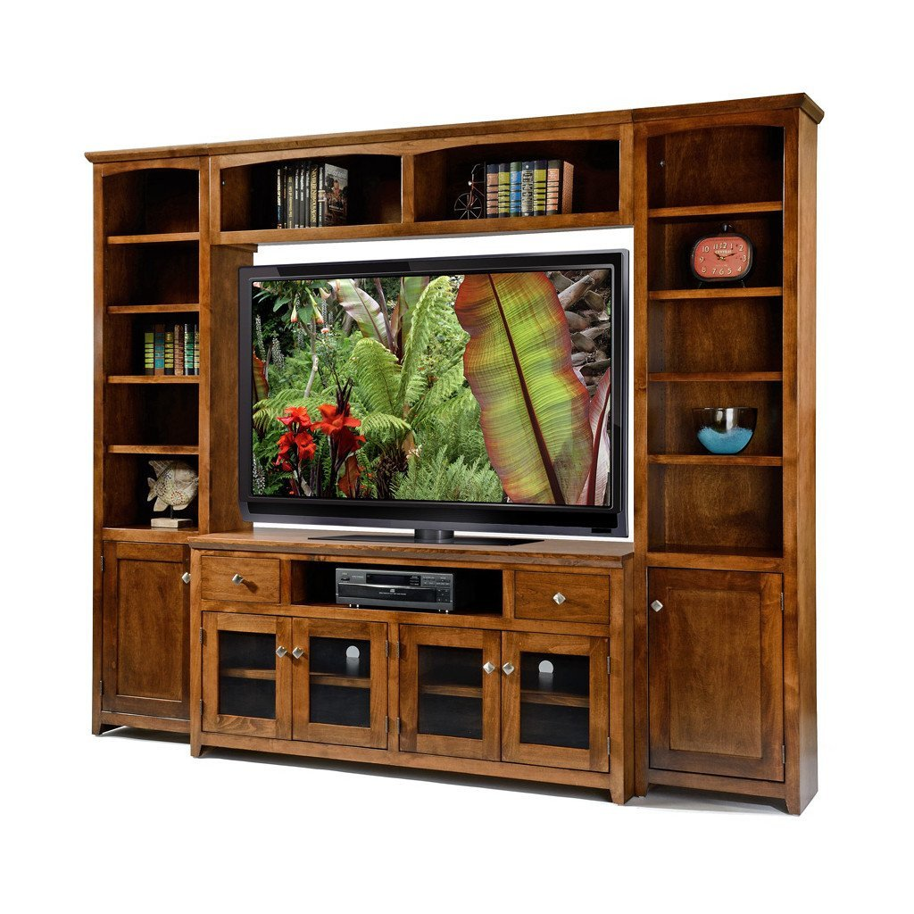 "Tall Tv Stands for Bedroom Best Of Od A S61wall Shaker Alder Wall System with 61"" Tv Stand"