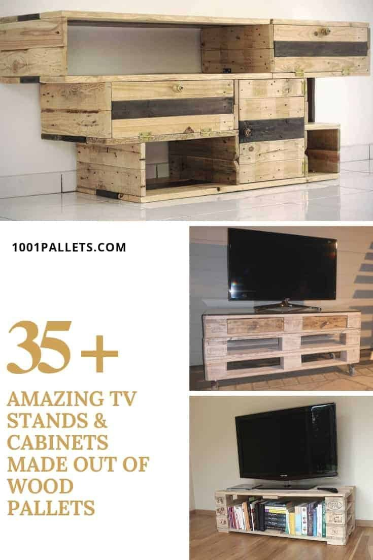 Tall Tv Stands for Bedroom Luxury 35 Amazing Tv Stands & Cabinets Made Out Wood Pallets