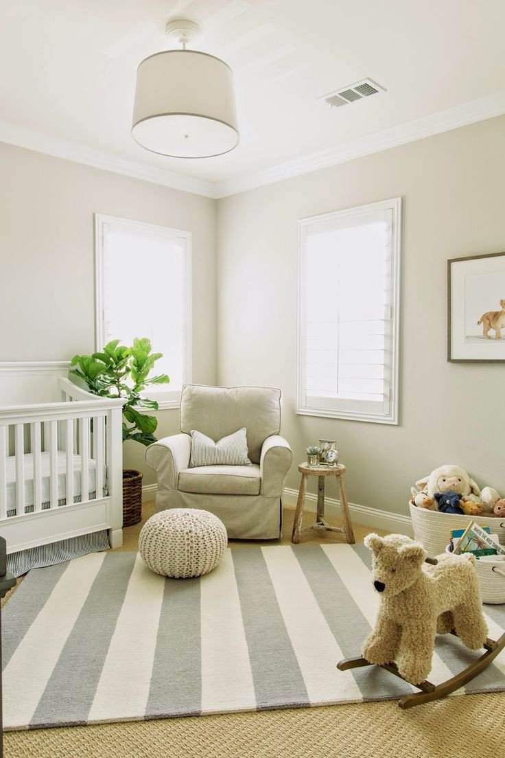 Tan and White Bedroom Inspirational Modern Neutral Nursery Design Featuring A White Beige and