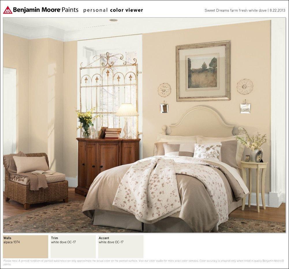 Tan and White Bedroom Lovely Ben Moore Walls Alpaca 1074 Trim White Dove Oc 1