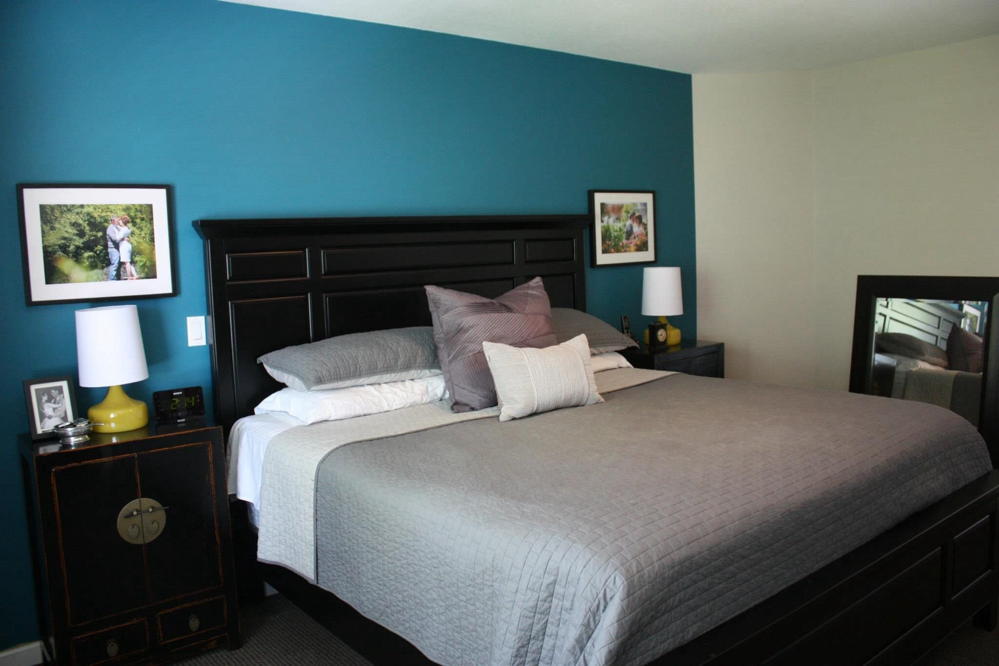 Teal and Black Bedroom Ideas Awesome Our Master Bedroom Black Furniture Custom asian Side