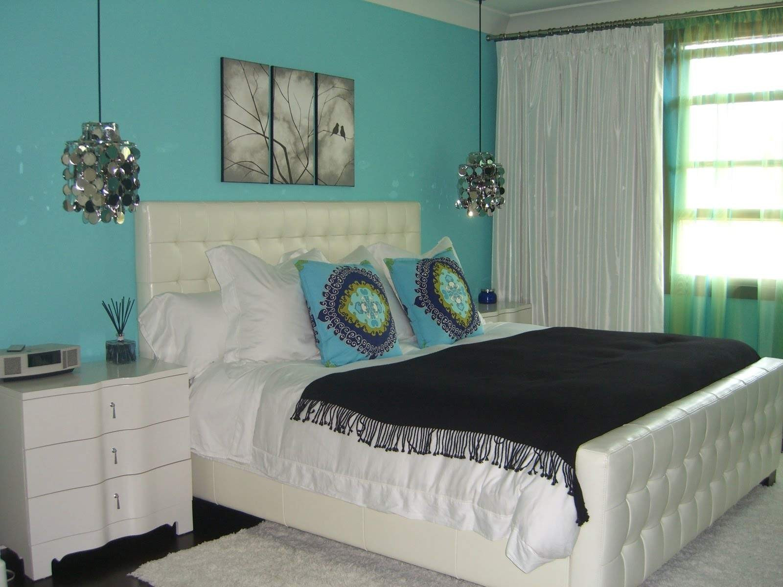 Teal and Black Bedroom Ideas Unique Mix Patterns In A Black Bedroom