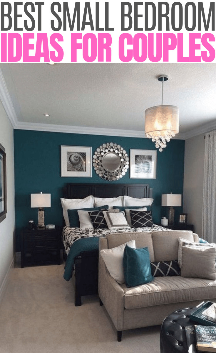 Teal and Gray Bedroom Beautiful Fluttering Tiny Bedroom Ideas for Couples