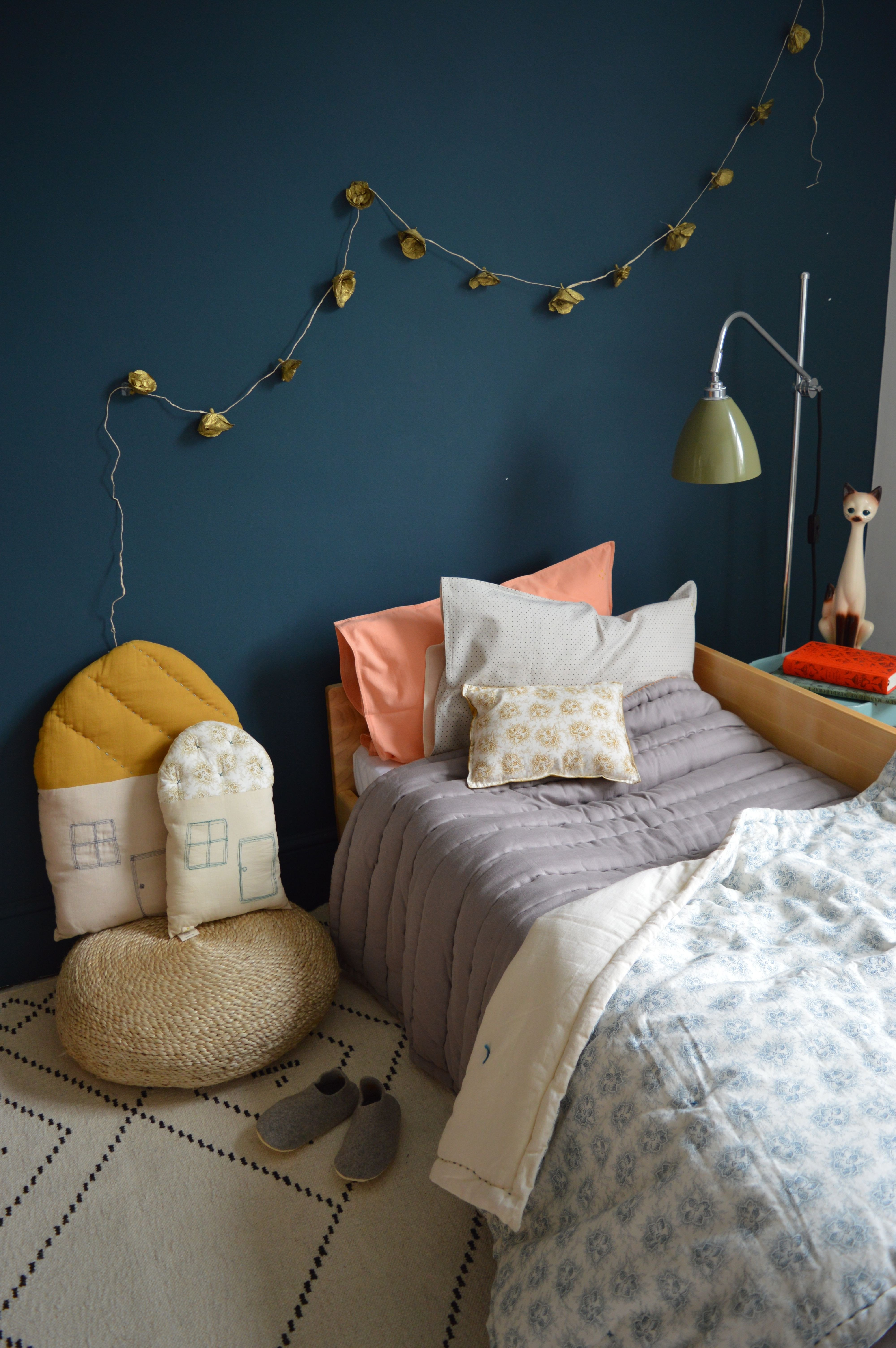Teal and Gray Bedroom Elegant All by Camomile London Dark Teal Walls In Kids Bedroom